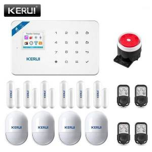 DHgate kerui w18 wifi gsm 2g alarm system russian french spanish language home security motion alarm detection home anti-theft device1