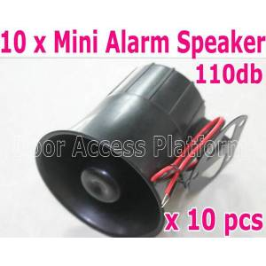 DHgate 1 order=10 pcs of small size @99 x106mm home anti-theft alarm speaker,110 db voice abs 15w security alarm system dc12v/24v kits