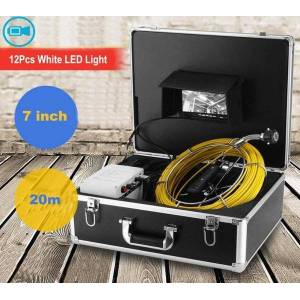 DHgate ip68 waterproof 7inch digital high resolution screen pipe sewer snake inspection camera system 23mm camera head 20m cable1