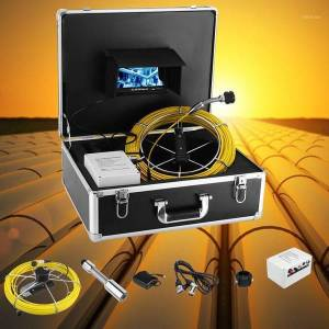 DHgate 4500mah hd 23mm camera lens drain sewer pipeline industrial endoscope 7inch 20m cable pipe inspection video camera1