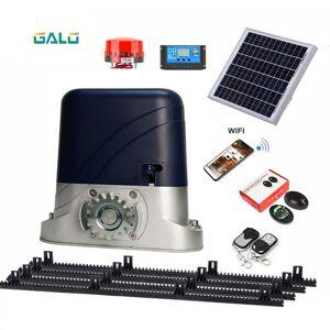 DHgate 500kgs 24v solar sliding gate operator opener system of dc motor as door closer engine with 4m/13feet nylon rack rails