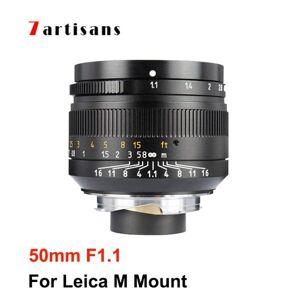 DHgate 7artisans 7 artisans 50mm f1.1 full frame lens large aperture for leica m mount camera m240 m3 m5 m6 m7 m8 m9 m9p m10