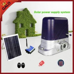 DHgate galo solar energy operation for 500kg loading automatic sliding gate opener operator motor accessories can be selected