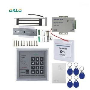 DHgate fingerprint access control wired keypad reader entry door lock security system kit with 5ps 125khz card1