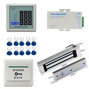 DHgate fingerprint access control rfid door entry system kit set dc12v 125khz electric magnetic lock strike bolt electronic