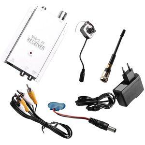 DHgate mini cameras 1.2g wireless camera kit radio av receiver with power supply surveillance home security(eu plug)