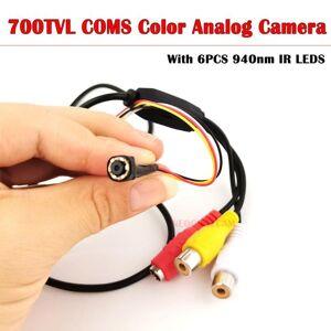 DHgate cameras neocoolcam small mini av analog camera 700tvl cmos color video surveillance with 6pcs 940nm ir leds