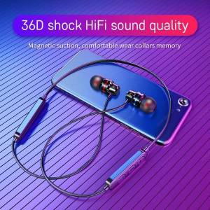 DHgate headphone wirless headphones magtic fone de ouvido bluetooth 5.0 neckband ipx5 waterproof earphone for smartphone huawei