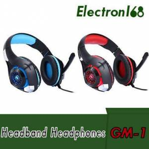 DHgate beexcellent gm-1 gaming headphone with mic led light stereo game headset 3.5mm wired usb headband headphones for pc/ps4 gamers