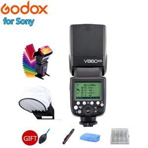 DHgate godox ving v860ii v860iis 2.4g wireless gn60 e-ttl hss 1/8000s vb-18 battery camera speedlite flash for dslr + softbox