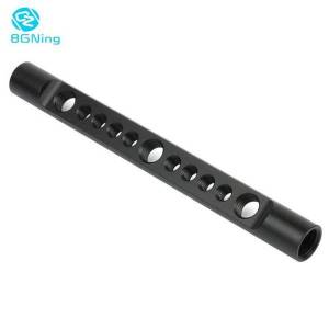 """DHgate bgning aluminum 15mm cheese rods 150mm long w/ internal 1/4"""" 3/8"""" inch thread mounting holes for slr cameras rail support system"""