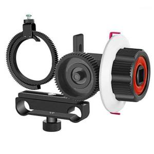 DHgate follow focus with gear ring belt for and other dslr camera camcorder dv video fits 15mm rod film making system1