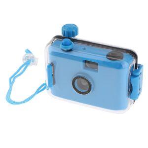 DHgate film cameras underwater waterproof lomo camera mini cute 35mm with housing case blue