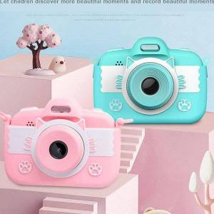 DHgate full hd mini children camera kids toy camera 3.0'' digital with silicone children's intellectual toys children's gifts