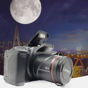 DHgate professional xj05 digital camera slr 4x zoom 2.8 inch screen 3mp cmos max 12mp resolution hd 720p tv out support video cameras