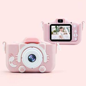 DHgate sports cartoon children camera dual lens mini usb charging pography birthday gift digital 2 inch hd screen plastic toy11
