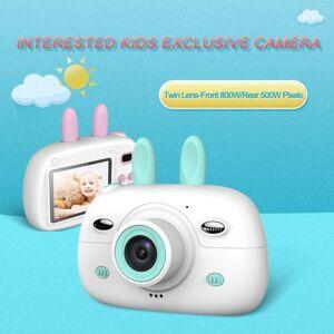 DHgate portable kids digital camera intelligent focus mode large screen children cartoon mini dual lens for kids1
