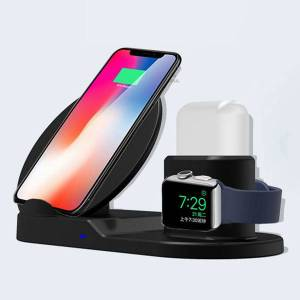 DHgate wireless charging dock station for iphone 3 in 1 wireless charging stand fast charging dock for i watch 5 4 airpods fast wireless charger