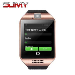 DHgate slimy q18 wifi smart watch for men women kids android 4.4 os wristwatch support 2g 3g nano sim card gps smartwatch