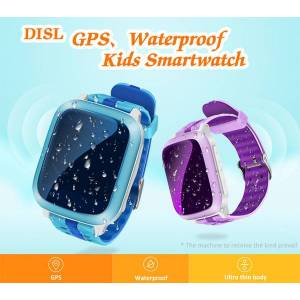DHgate slimy new smart watch gps children kids baby wristwatch ds18 gsm gps locator tracker anti-lost smartwatch child pk q90 v7k q50