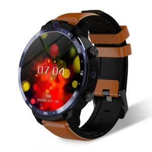 DHgate winsun lem12 pro smart watch 4g+64g android 10 wireless projection 400*400 resolution 1.6 inch gps dual cameras diy face for men