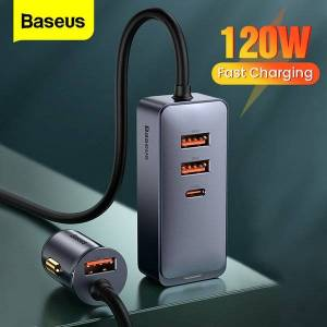 DHgate baseus 120w usb type c car charger quick charging for iphone 12 pro xiaomi samsung mobile phone pd qc 3.0 usbc car phone charger