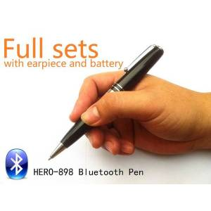 DHgate edimaeg bluetooth pen with wireless earpiece 50-60cm long transmitting distance can listen during writing, 1# only pen, 2# full