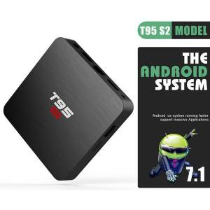 DHgate t95 s2 android tv box 2g 16g amlogic s905w quad core 3d 4k streaming meida player 2.4g wifi smart box gb 8gb