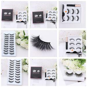 DHgate liyatton magnet false eyelashes set with fast dry waterproof long lasting magnetic liquid eyeliner 3d mink lashes natural