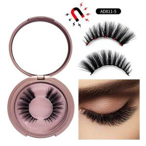 DHgate false lashes 3d eyelashes natural invisible agnetic liquid eyeliner 5 magnet eyelash set with tweezers magnetic false eyelashes