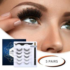 DHgate extended beauty makeup false eyelashes magnetic false eyelashes lashes w/magnetic liquid eyeliner kit eyelash extension