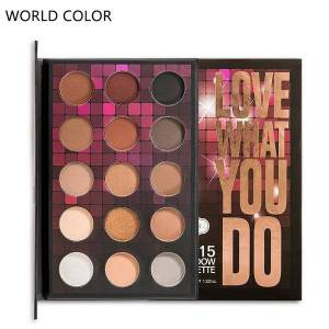 DHgate new beauty fashion natural shimmer matte color 15 colors double charm pearlescent matte eyeshadows palette makeup tslm1
