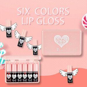 DHgate 6pcs/set liquid lipstick professional makeup matte lipstick long lasting moist lip gloss cute cosmetics women makeup cosmetics