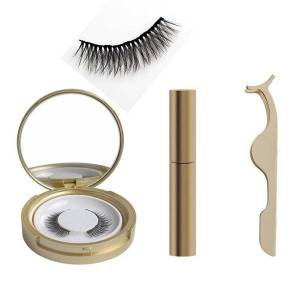DHgate 3d mink lashes magnetic liquid eyeliner with magnetic easy to wear lashes kit false eyelashes natural hair d300729