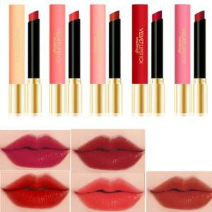 DHgate 5pcs matte lipstick set waterproof non-stick cup brighten lip color lasting velvet lipstick k7
