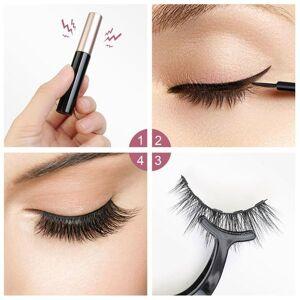 DHgate lashes soft eyelash extension makeup kit 5 pairs 3d handmade magnetic false eyelashes mascara set liquid eyeliner with clip