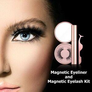 DHgate 3d magnetic eyelashes skillful manufacture superior quality mink fake eye lashes long last eyeliner liquid tweezer kit