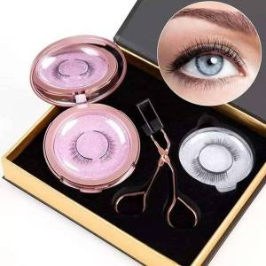 DHgate magnetic eyelash kit reusable fluffy 3d eyelash mink lashes natural look lashes for women handmade fre-drop