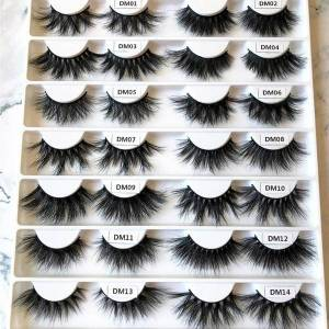 DHgate 10 pairs 20mm 22mm 25mm 3d real mink eyelashes dm-series luxury lashes wholesale bulk super thin band