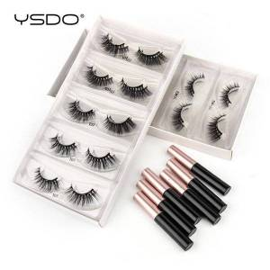 DHgate wholesale magnetic eyelashes 3d 3/20/50/100 pcs natural volume mink lashes waterproof liquid eyeliner in bulk makeup tools false