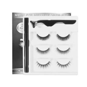 DHgate magnetic eyelashes and eyeliner set magnet liquid eyeliner 5 pairs no glue long lasting eyelash extension 3d mink lashes set