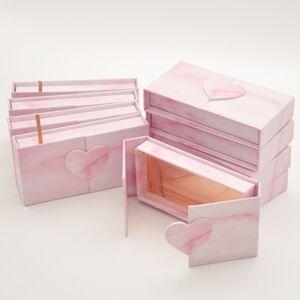 DHgate wholesale eyelash packaging box lashes boxes packaging custom 25mm mink eyelashes faux cils magnetic pink case bulk vendors