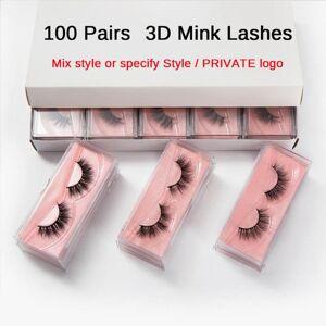 DHgate wholesale mink eyelashes 50/100 pairs 3d mink lashes natural false eyelashes hand made makeup eye lashes 3d bulk