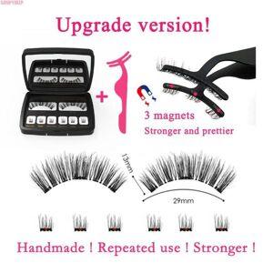 DHgate eyelashes natural long 25mm wispy lashes strips 3 magnet fake eyelashes mink eye lashes extension supplies 3d/6d false magnetic