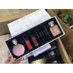 DHgate new famous perfume makeup sets 2pcs perfume+ 4pcs lipstick with box 6 in 1 set perfume 6pcs dhl ship