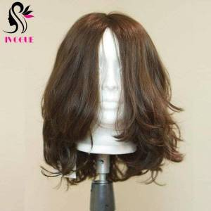DHgate jewish wig silk unprocessed virgin european remy human hair wigs natural wave double drawn none lace kosher wigs full end