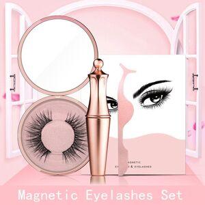 DHgate 1set natural look false lashes eyeliner magnetic eyelashes set long extension false eyelashes women eyes makeup beauty tools