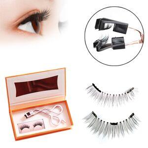 DHgate new quantum magnet false eyelashes set natural eyelashes reusable eyelash false soft magnetic lashes 1pcs/2pcs