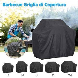 DHgate waterproof bbq heavy duty grill cover resistant electric rain protective barbeque anti charcoal dust round outdoor for garden tools & access