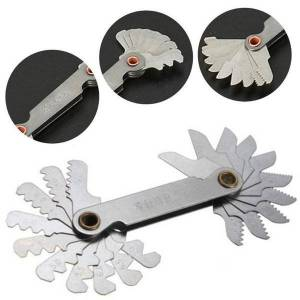 DHgate radius gauge tools stainless steel gauges 55 degree 60 degree screw thread pitch measure gage 0.3-1.5 r1-7 r7.5-15 r15.5-25